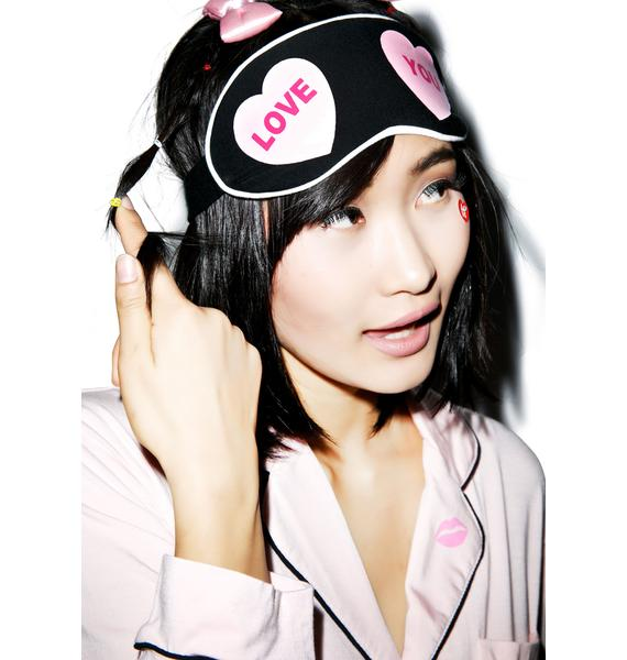 Wildfox Couture Love You Hearts Eye Mask