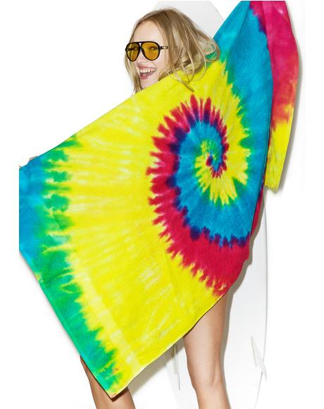 Reactive Rainbow Beach Towel