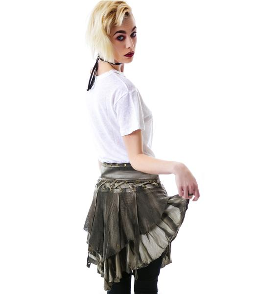 Lip Service Industrial Mesh Laced Skirt