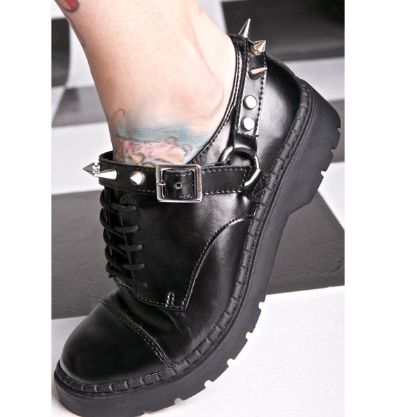 T.U.K. Leather Studded Harness Oxfords