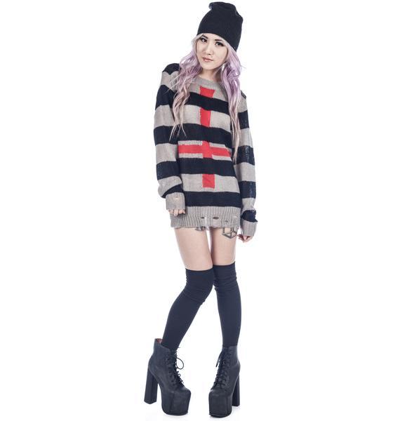 UNIF Cross Sweater