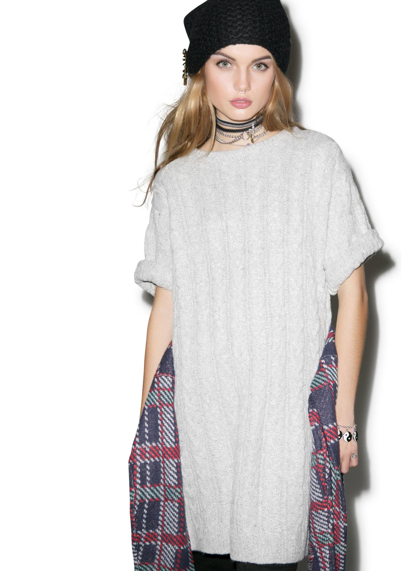 For Love & Lemons Snow Day Oversized Sweater