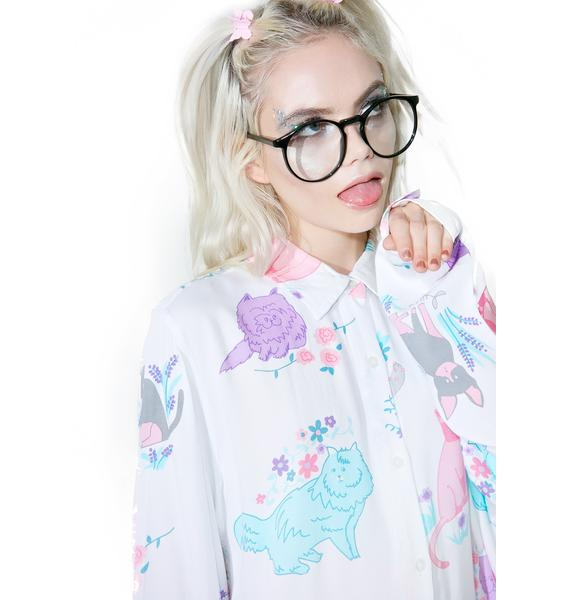 Lazy Oaf Garden Cats Shirt