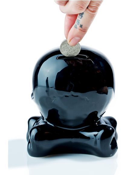 Ceramic Skull Bank