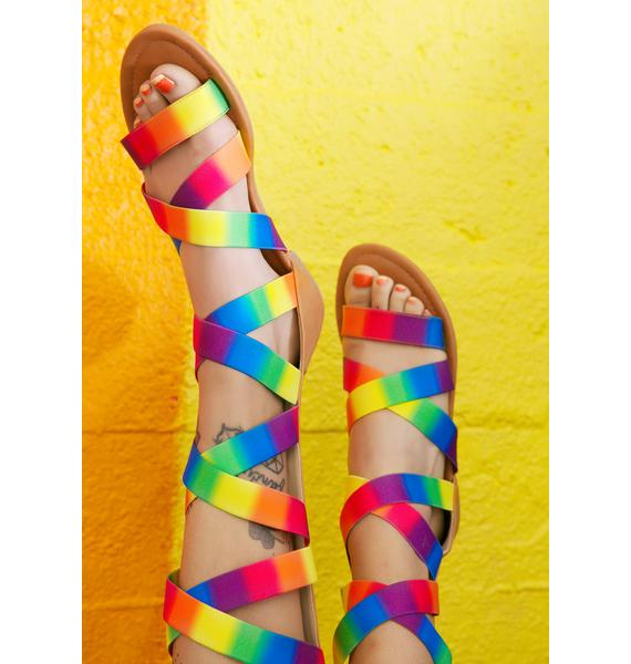 Sky Castle Strappy Sandals