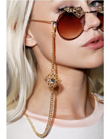 Aurora Borealis Sunglass Chain