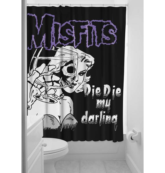 Sourpuss Clothing Misfits Shower Curtain