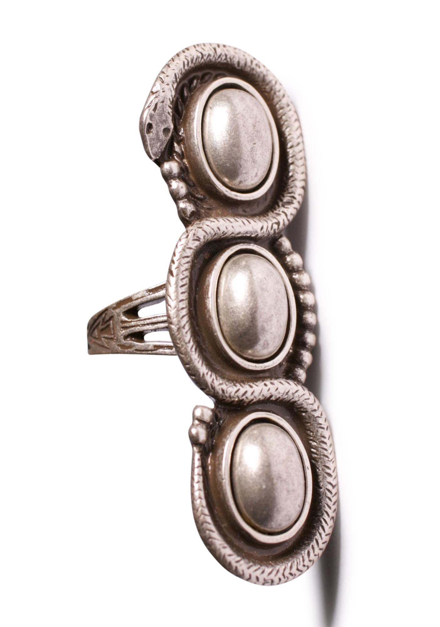 Vanessa Mooney Serpent Silver Ring