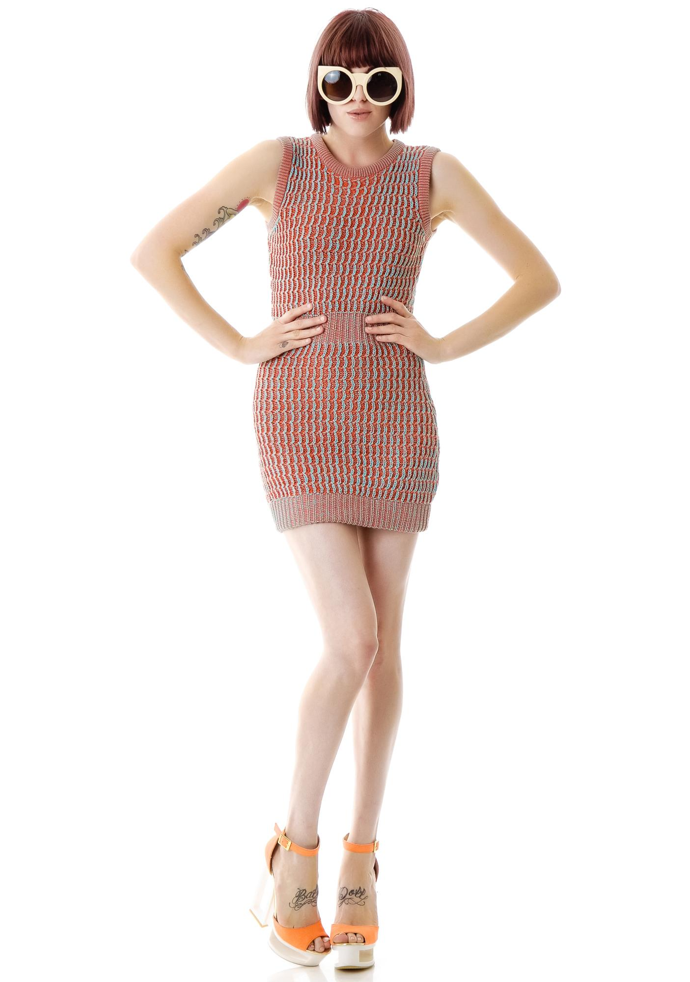 Fairground Acid Sweater Tank Dress