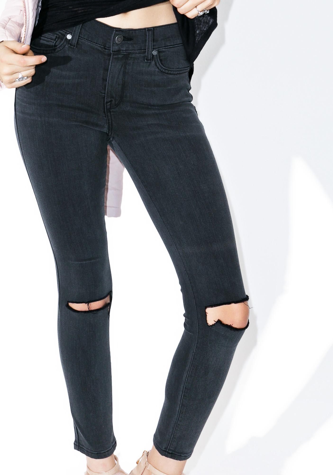 Fall 2 Knees Slit Jeans