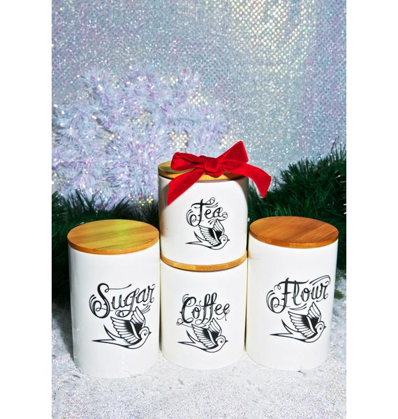 Sourpuss Clothing Sparrow Canister Set