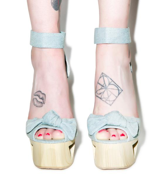 Bow Down Lakie Heels