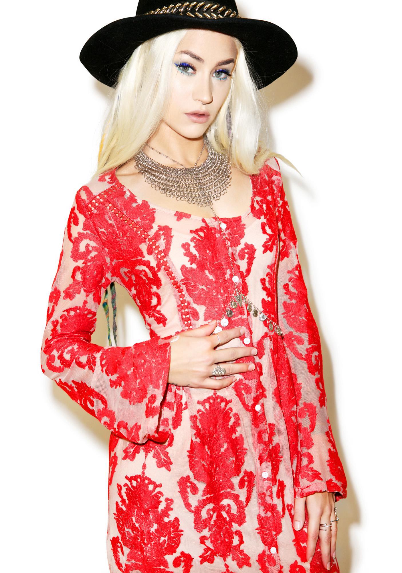 Mink Pink Crime of Passion Maxi Dress