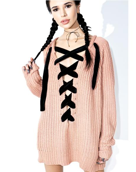 Chorus Lace-Up Sweater