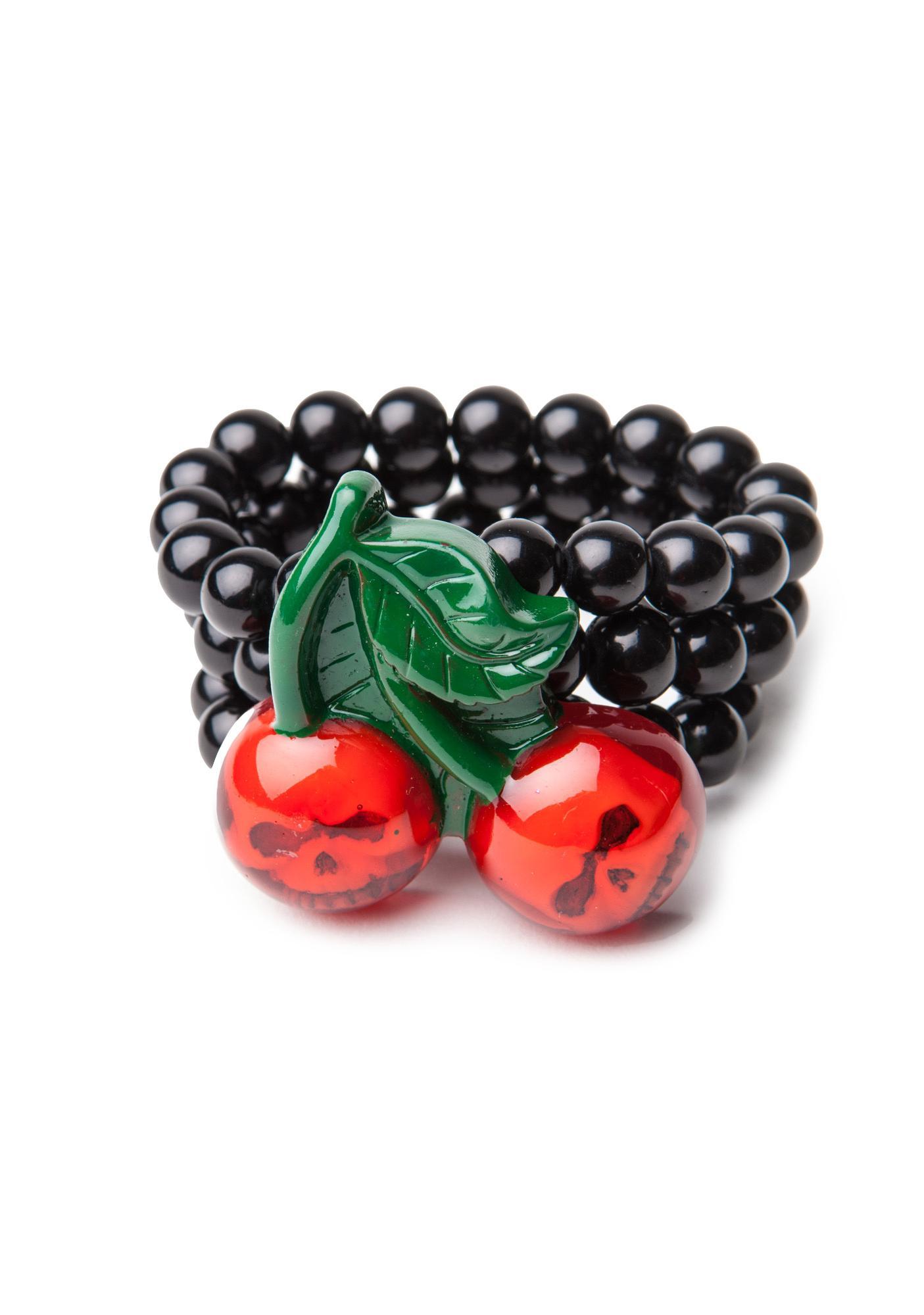 Kreepsville 666 Cherry Skull Bracelet