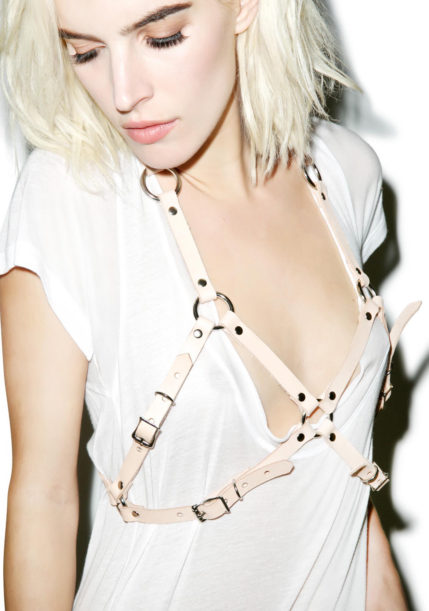 Club Exx Nude 'Tude Buckled Bra Harness