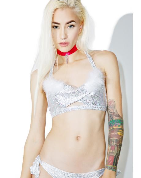 Snow Angel Halter Bra