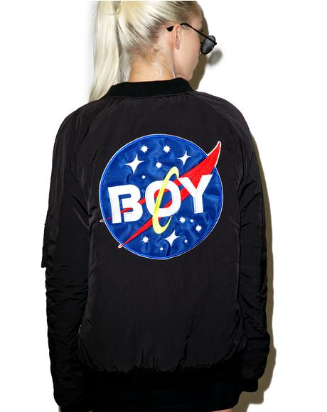 Boy Space Bomber Jacket