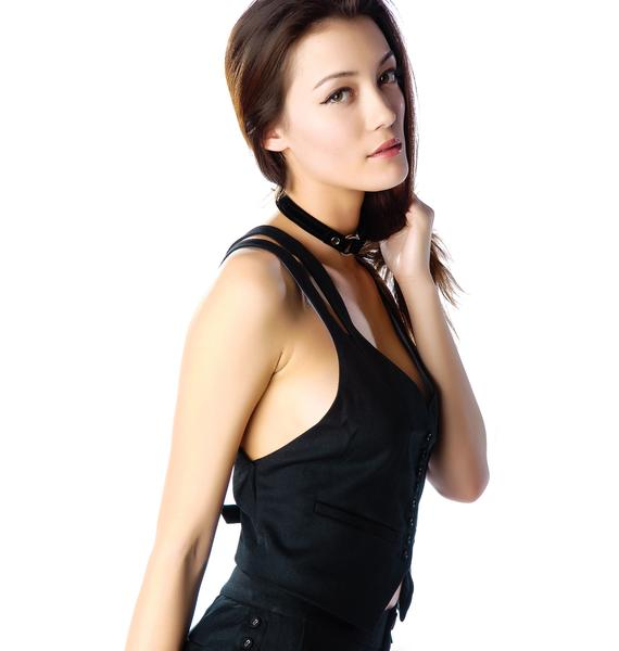 Widow Forever Black Button Up Vest