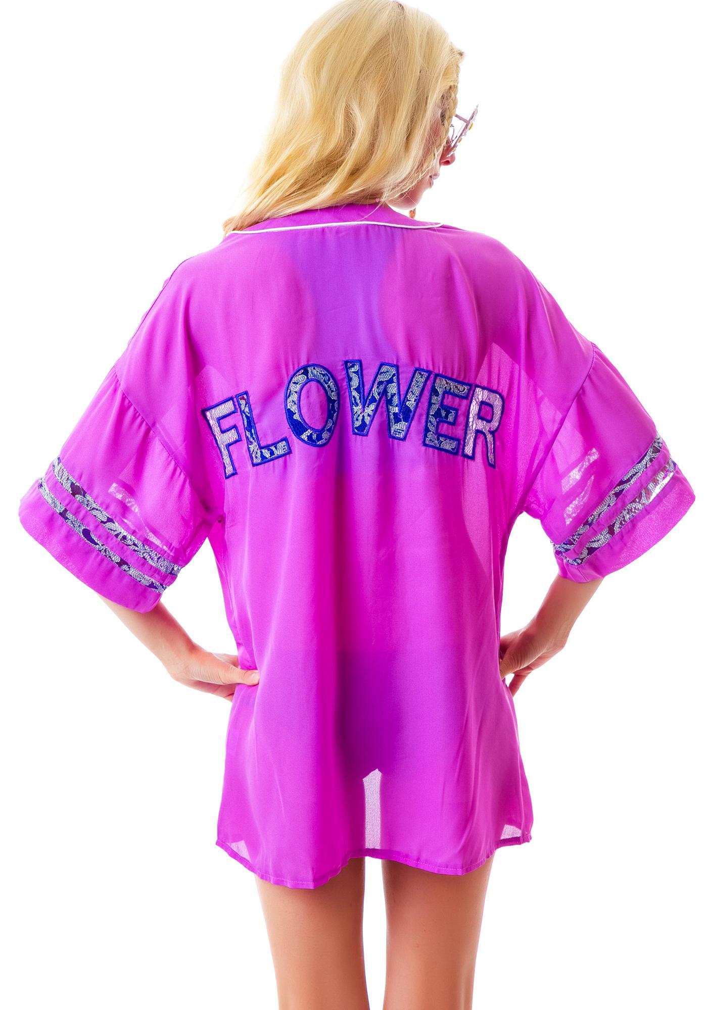 Floral Vibes Lace Kimono