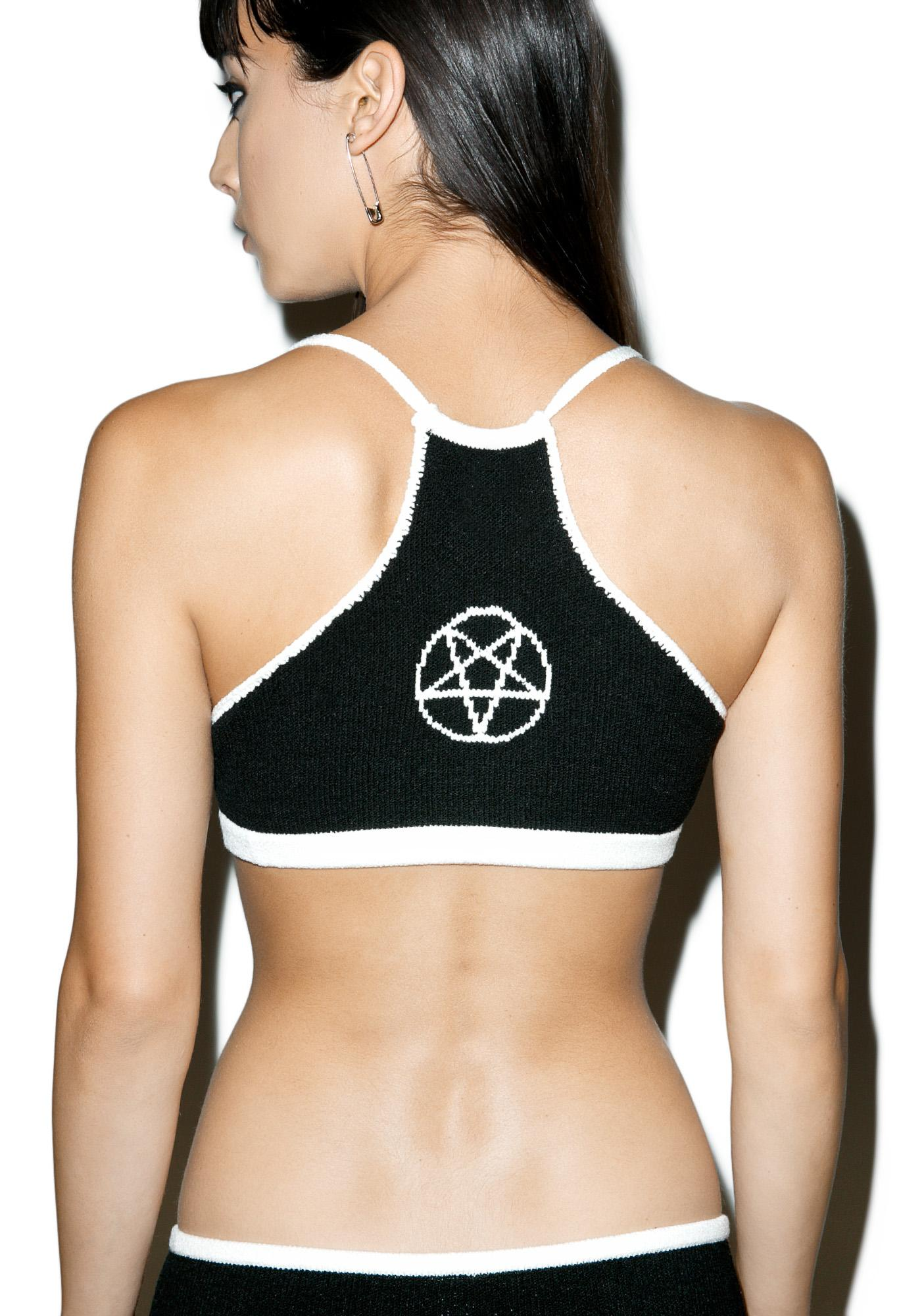Knitty Kitty Pentagram Knit Bralette