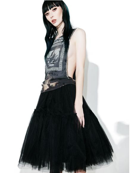 Raven Palatial Sheer Maxi Skirt