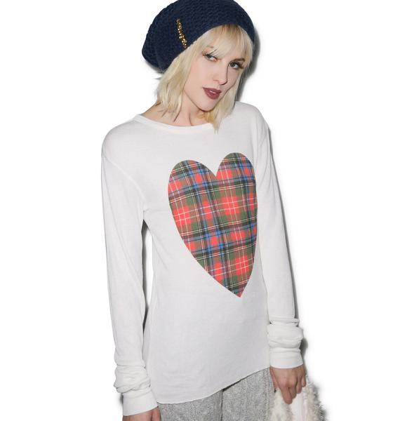 Wildfox Couture Tartan Heart Chalet Thermal