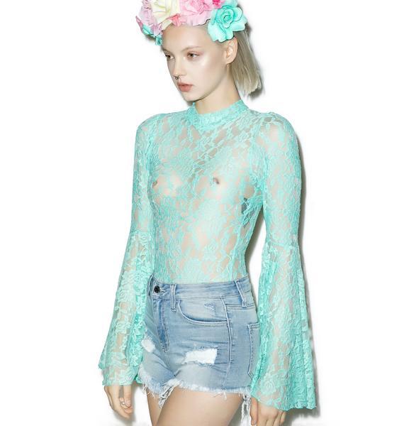 Little Black Diamond Aqua Stevie Bodysuit