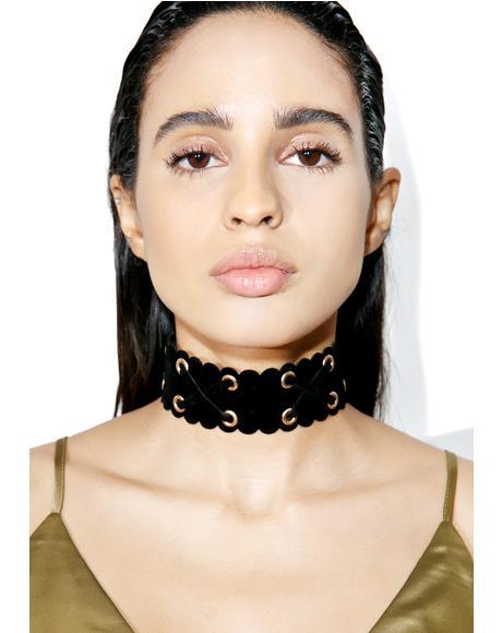 Farrah Lace-Up Choker