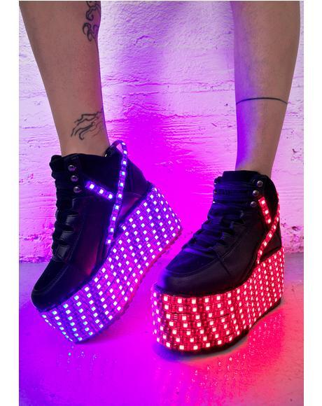 Qozmo Hi LED Platform Sneakers