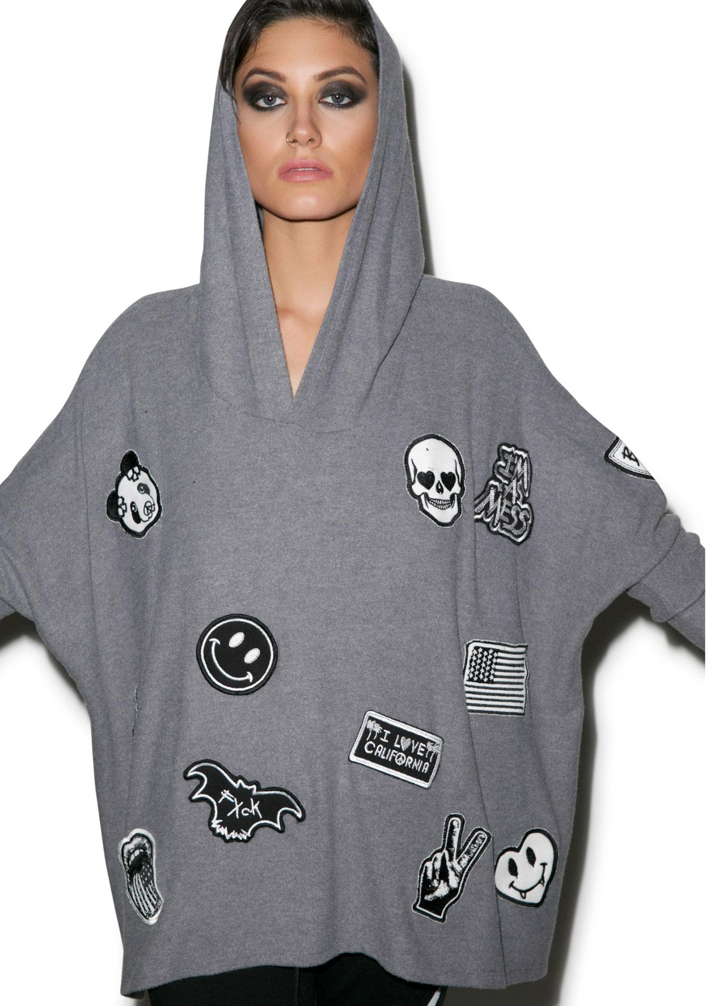 Lauren Moshi Wilma Patches All Over Pullover