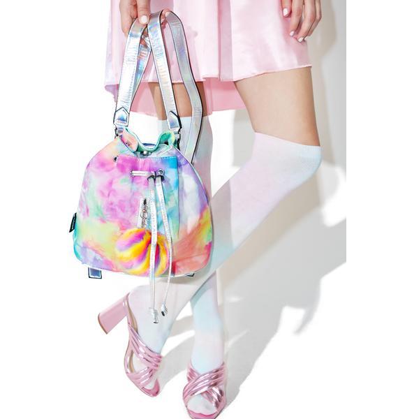 Jaded London Rainbow Pom Backpack