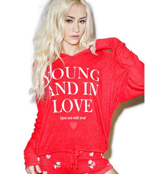 Wildfox Couture Young And In Love Hang Out Hoodie