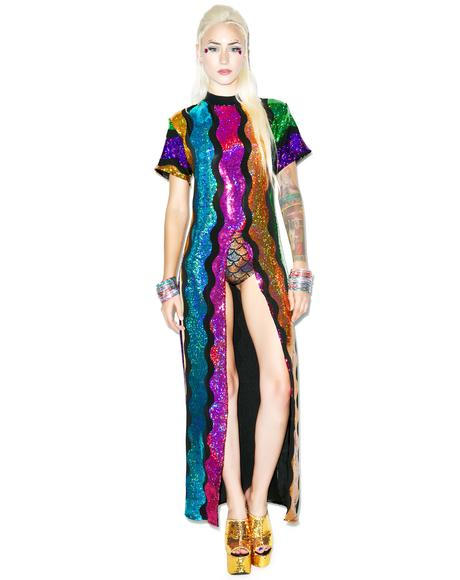 Rainbow Split Dress