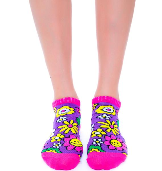 Flower Bomb Smile Sock