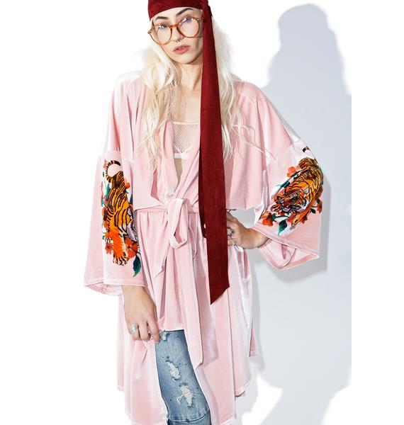 Jaded London Velvet Trophy Kimono
