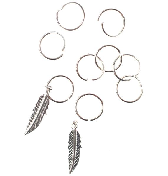 Faroe Feather Hair Rings