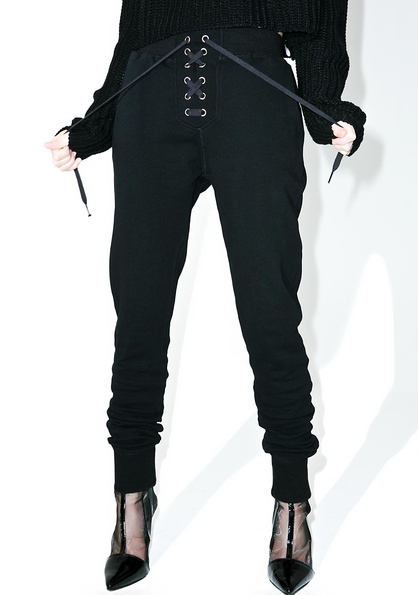 Night Kick Back Lace-Up Sweatpants