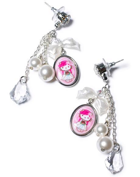 Bridal Chain Drop Earrings
