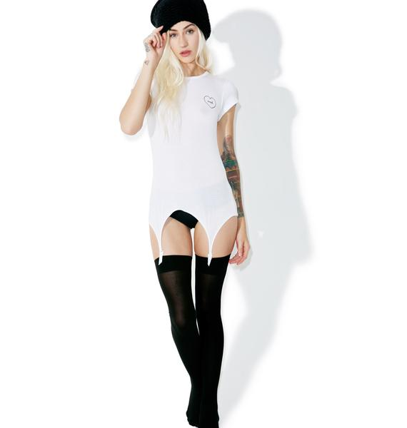 Wildfox Couture Pure White Nah Suspender Tee