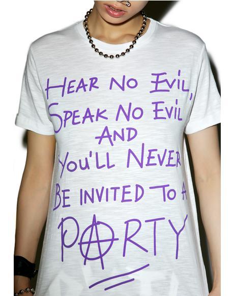 x Hanna Beth Hear No Evil Tee