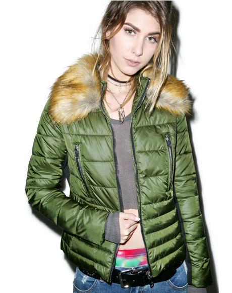 Down To Faux Quilted Jacket