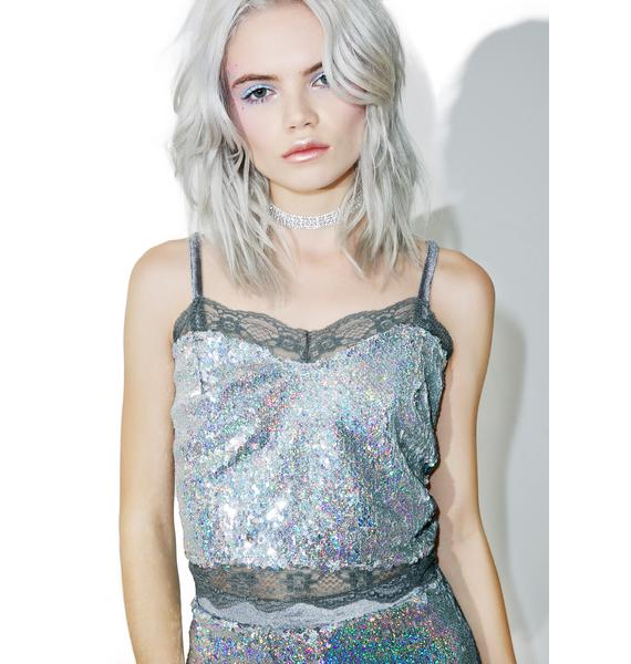 Sweet Nothings Sequin Crop Top