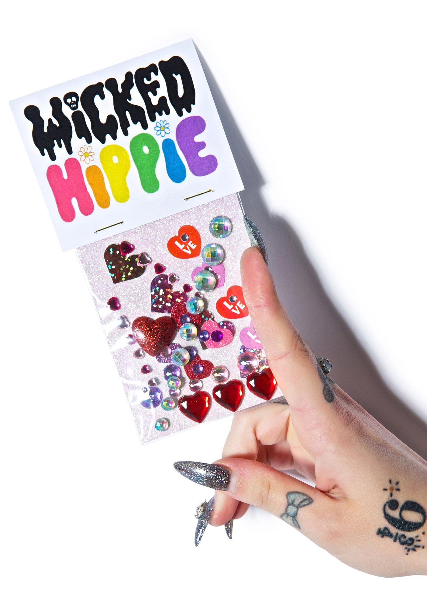 Wicked Hippie Heart On Face Jewelz
