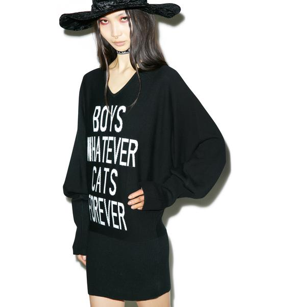 Killstar Boys/Cats Knit Dress