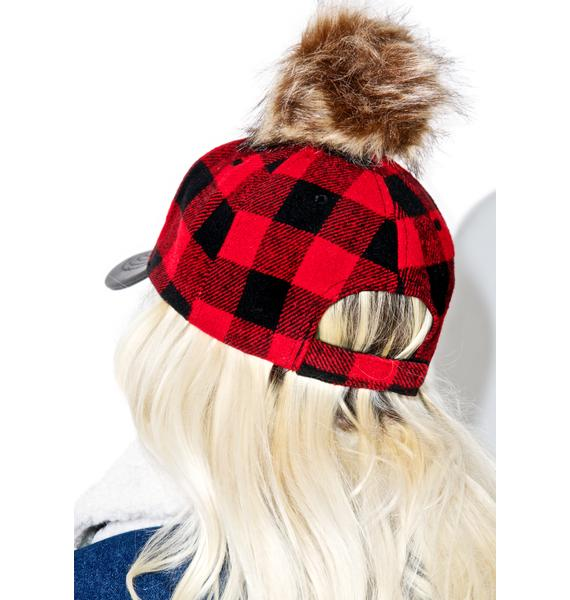 Plaid Pom Hat