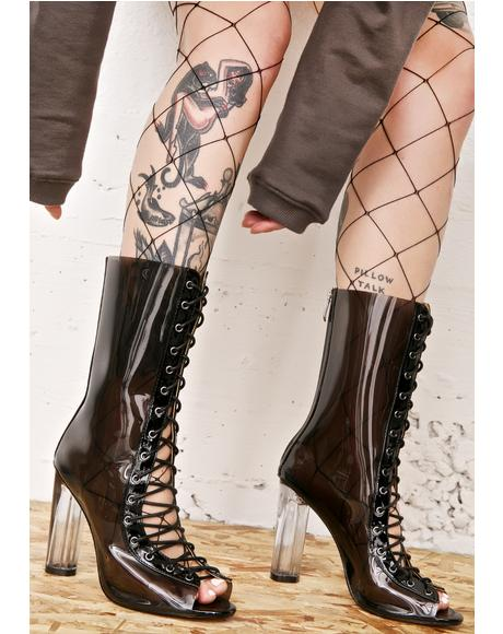 Scorpio Smoke Lace-Up Boots