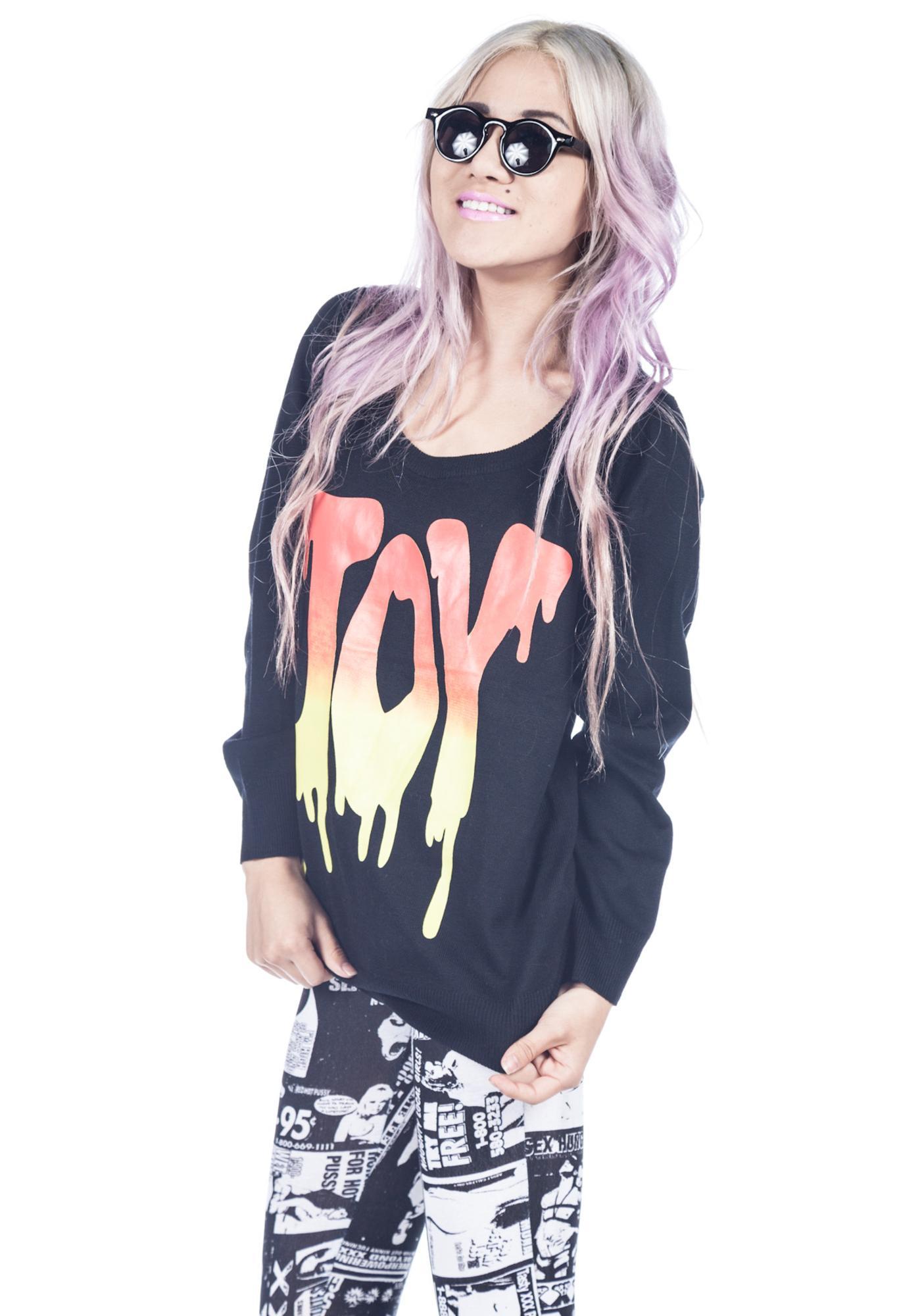 Joyrich Joy Dripped Sweater