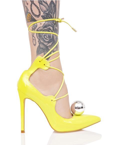 Electrified Vida Lace-Up Heels