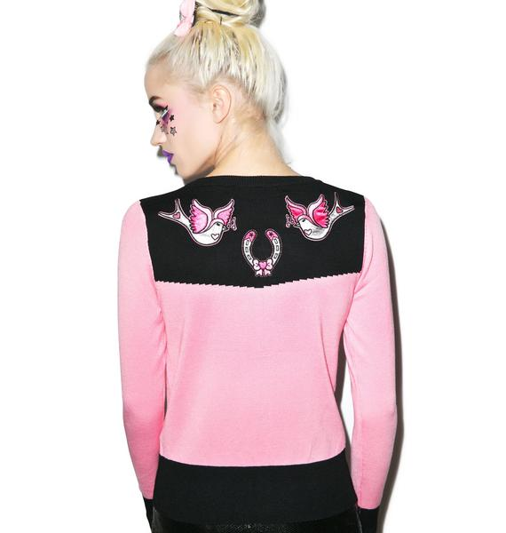 Horseshoes Embroidered Cardigan